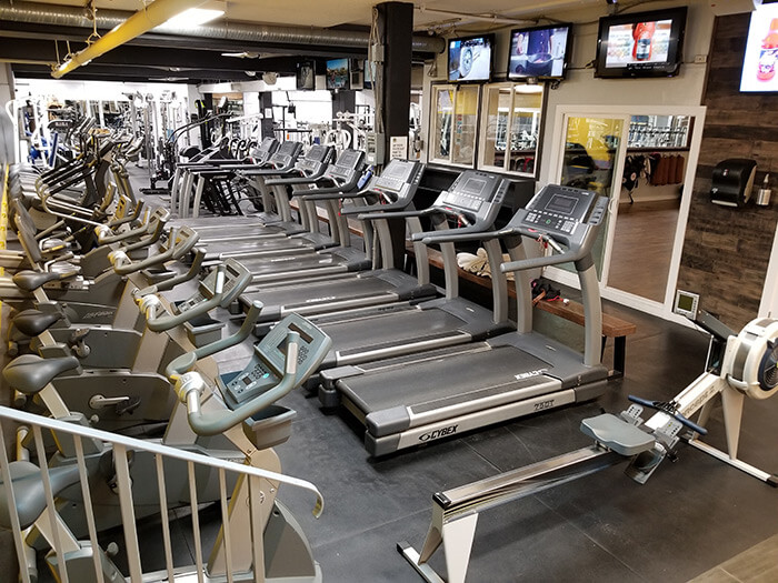 Treadmills at our East Vancouver Gym