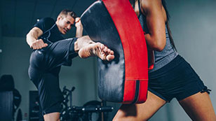 Beginner's kickboxing