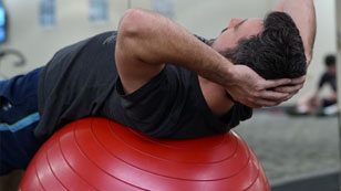 Stability Ball Core Exercise